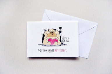 Cute Cat Heart-Hug Card - Love Cards - TispyTopsy - Naiise