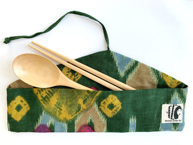 Cutlery in Pouch Cutlery Bamboo Straw Girl Birchwood