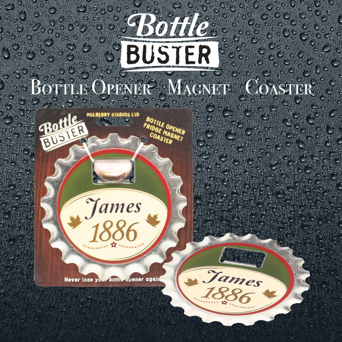 BOTTLE BUSTER - Best Bottle Opener : James - Bottle Openers - La Belle Collection - Naiise
