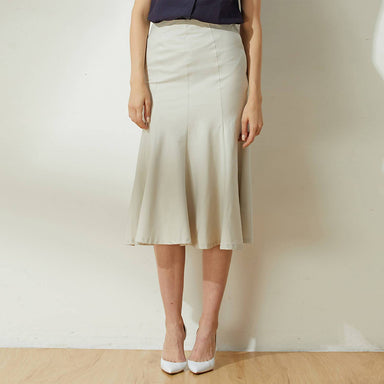 Kierce Mermaid Midi Skirt in Oyster - Dresses - Salient Label - Naiise