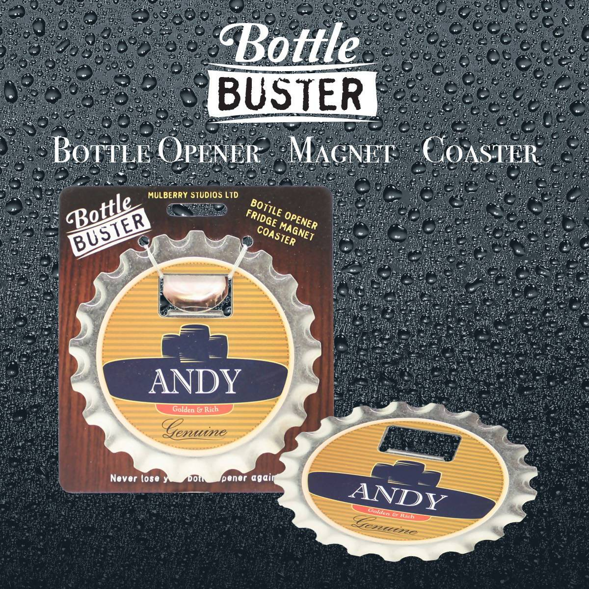 BOTTLE BUSTER - Best Bottle Opener : Andy - Bottle Openers - La Belle Collection - Naiise