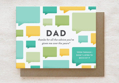 Dad Advice - Father's Day, Father's Birthday Greeting Card - Cards for Fathers - Quirky Paper Co. - Naiise