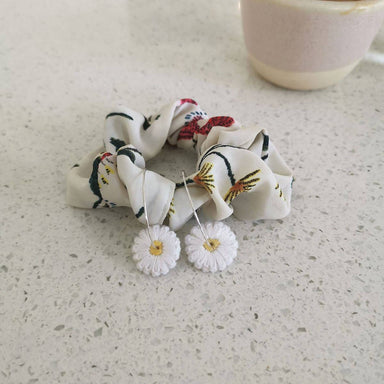 Daisy Embroidery Earrings - New Arrivals - Made by Mogu - Naiise