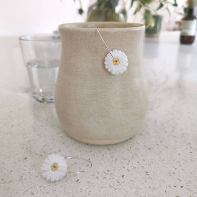 Daisy Embroidery Earrings New Arrivals Made by Mogu
