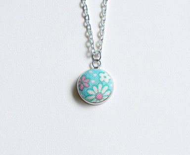 Daisy Spring Handmade Fabric Button Necklace - Necklaces - Paperdaise Accessories - Naiise