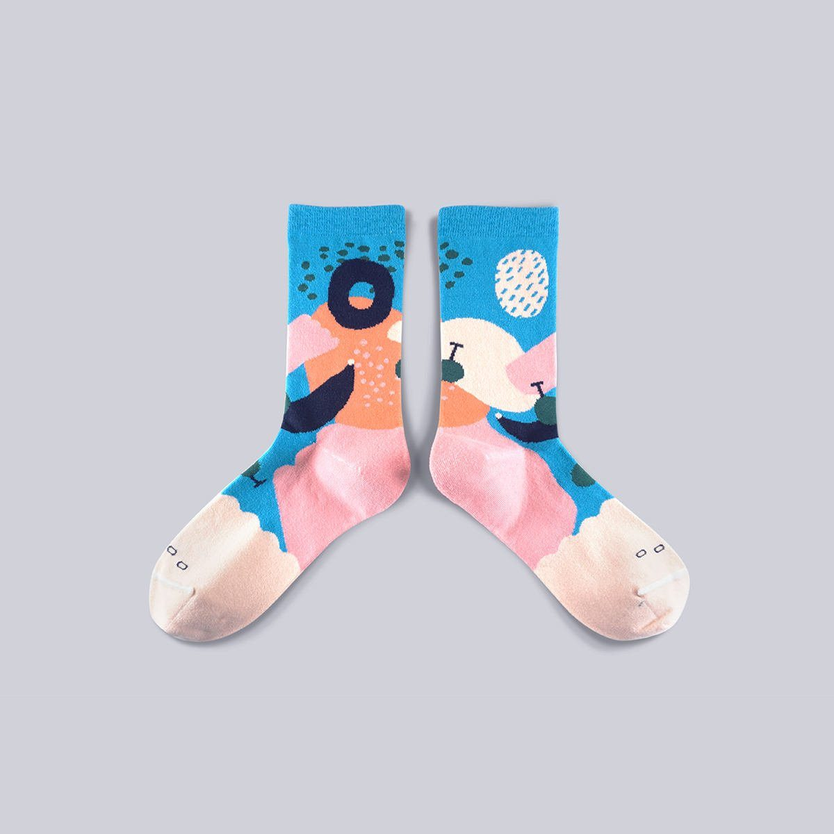 Dear, Buncho - Tropical Peach 1 socks - Socks - GoodPair - Naiise