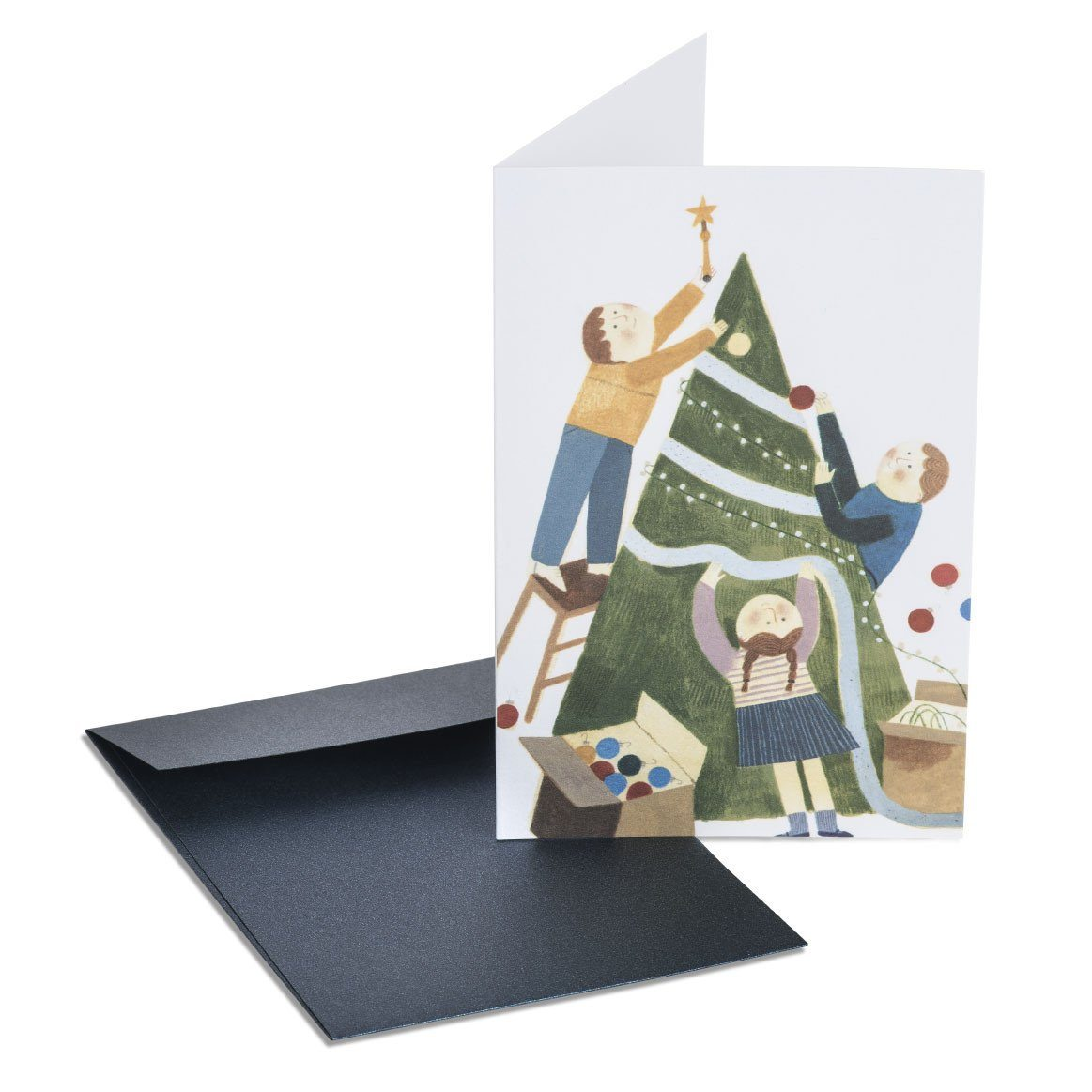 Decorating The Tree Greeting Card - Christmas Cards - MULTIFOLIA ATELIER di Rita Girola - Naiise