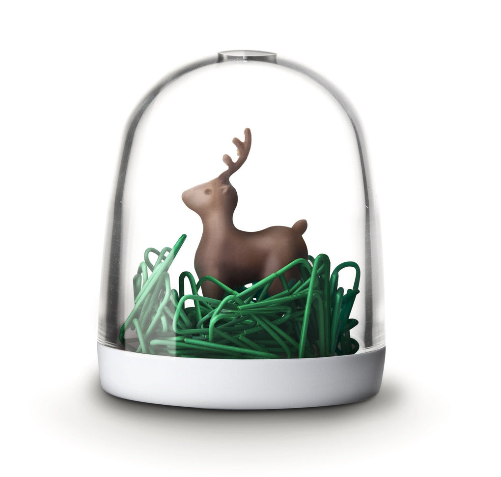 Deer in the Forest Paper Clip Holder Desk Organisation Qualy