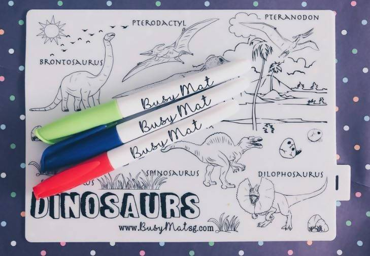 Dino-Rawr Busy Mat - Kids Activity Kits - Busy Mat - Naiise