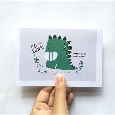 Dino RAWR Card - Generic Greeting Cards - TispyTopsy - Naiise