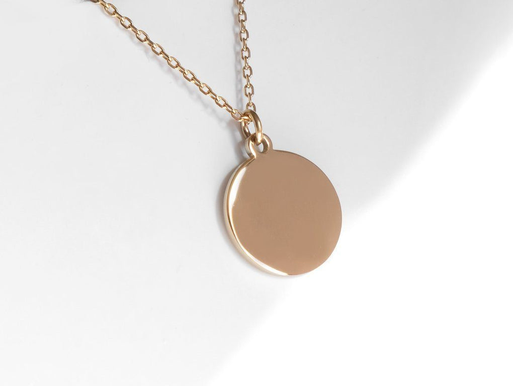 Disc Necklace In Rose Gold Necklaces MADEGREY