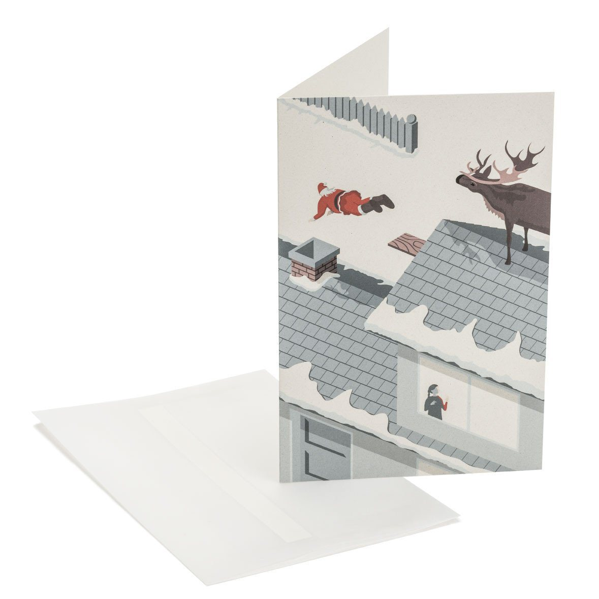 Diving Santa Greeting Card - Naiise