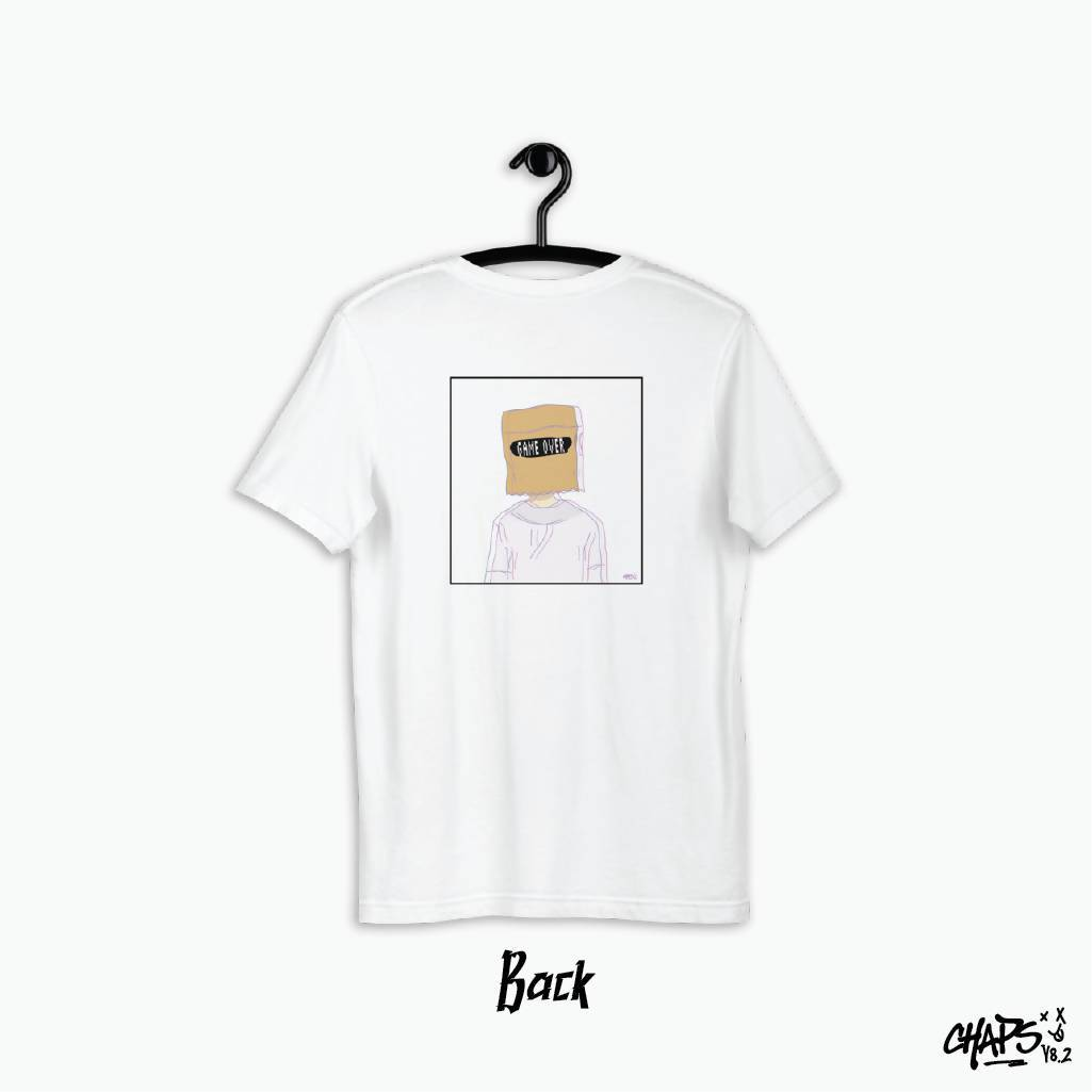 Game Over White Tee - T-shirts - Chaps V8.2 - Naiise