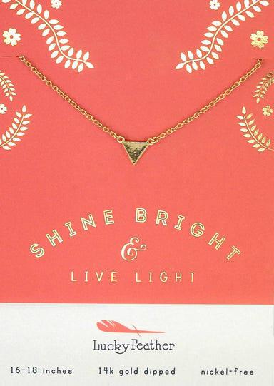 Lucky Feather - Shine Bright & Live Light Necklace - Necklaces - The Planet Collection - Naiise