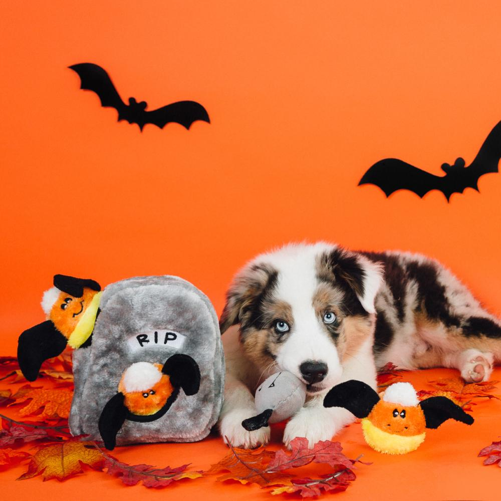 Dog Burrow Halloween - Spooky Gravestone Pet Toys Zippypaws