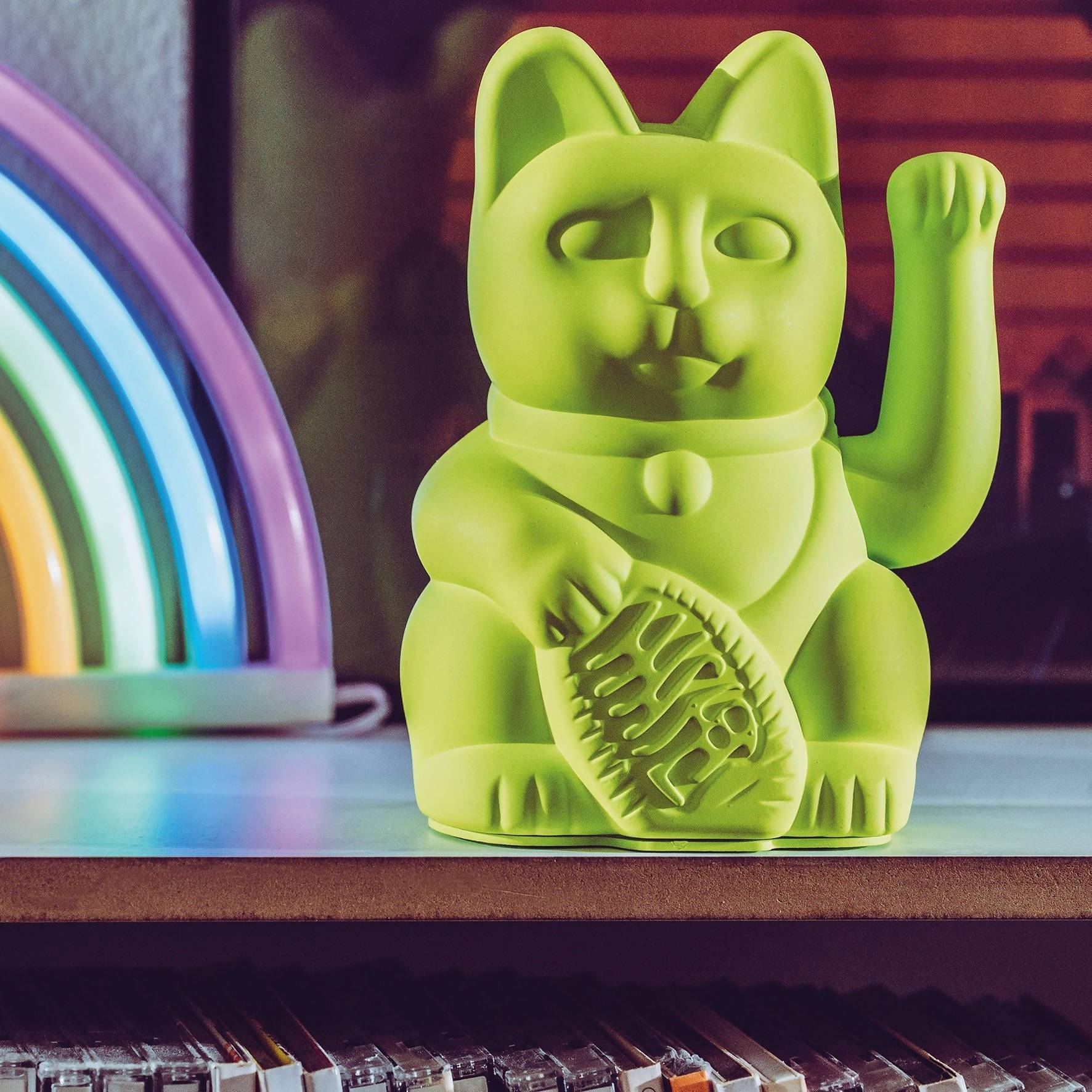 Donkey Lucky Cat - Neon Green - Home Decor - The Children's Showcase - Naiise