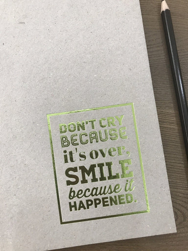 Don't Cry Because it's Over Chipboard Notebook - Notebooks - Papermix - Naiise