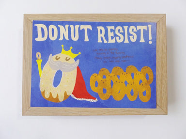Donut - Donut Resist Postcard - Postcards - Steak & Eggs Please - Naiise