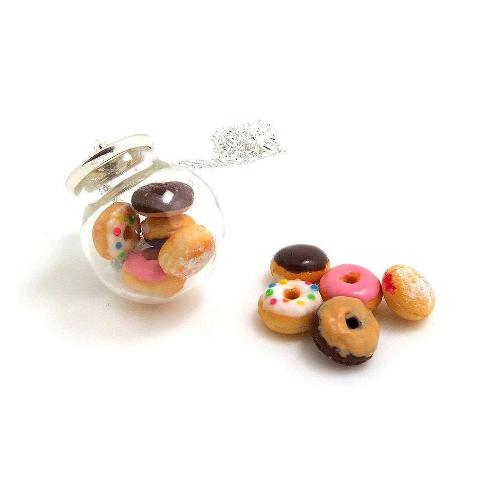 Donut Globe Necklace - Local Earring Studs - thepigbakesclay - Naiise
