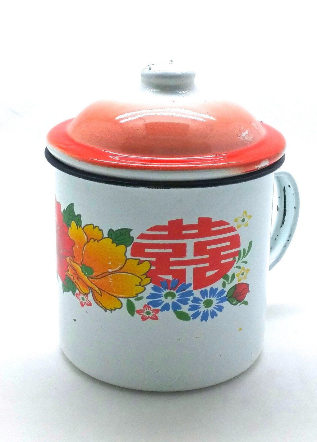 Double Happiness Vintage Enamel Mug Mugs Little Red Box