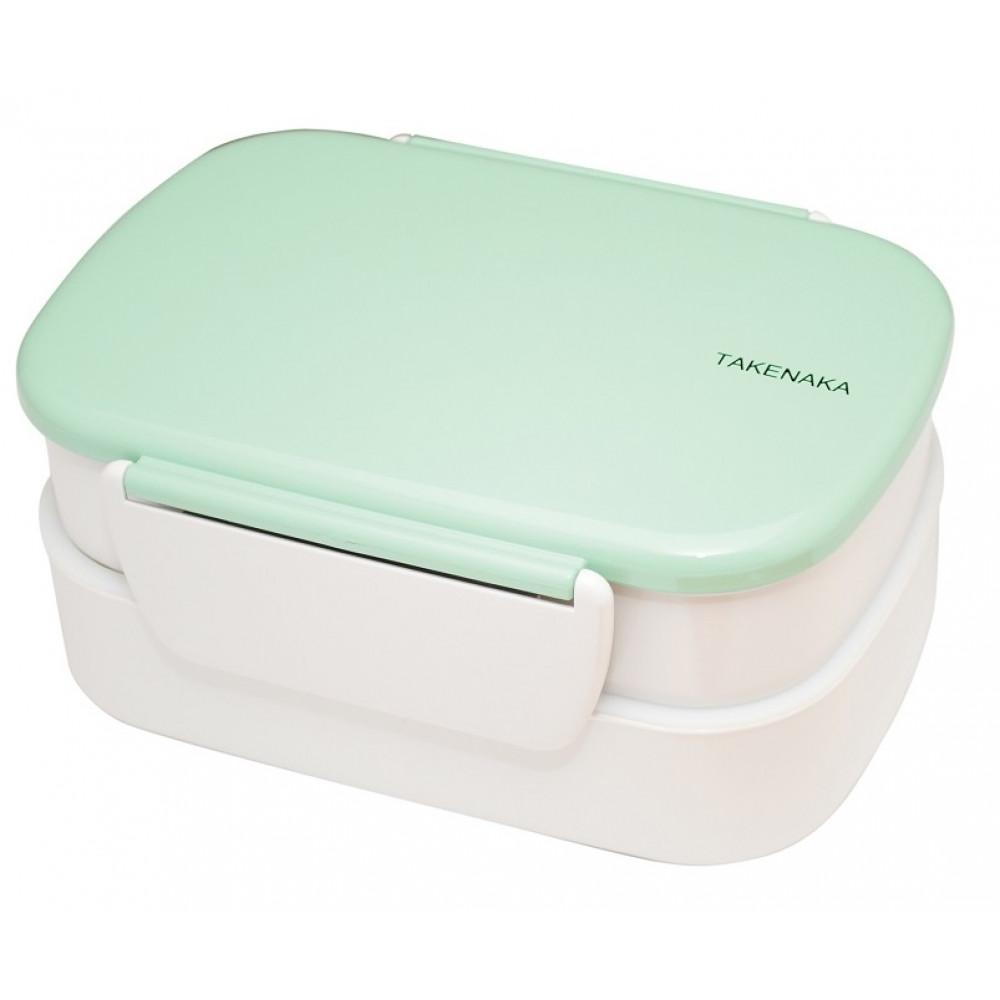 Double Layer Bento Lunch Box - Peppermint Clip Lunch Boxes Takenaka