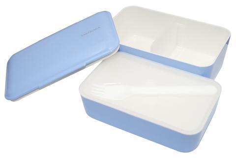 Double Layer Expanded Bento Lunch Box - Serenity Blue Lunch Boxes Takenaka