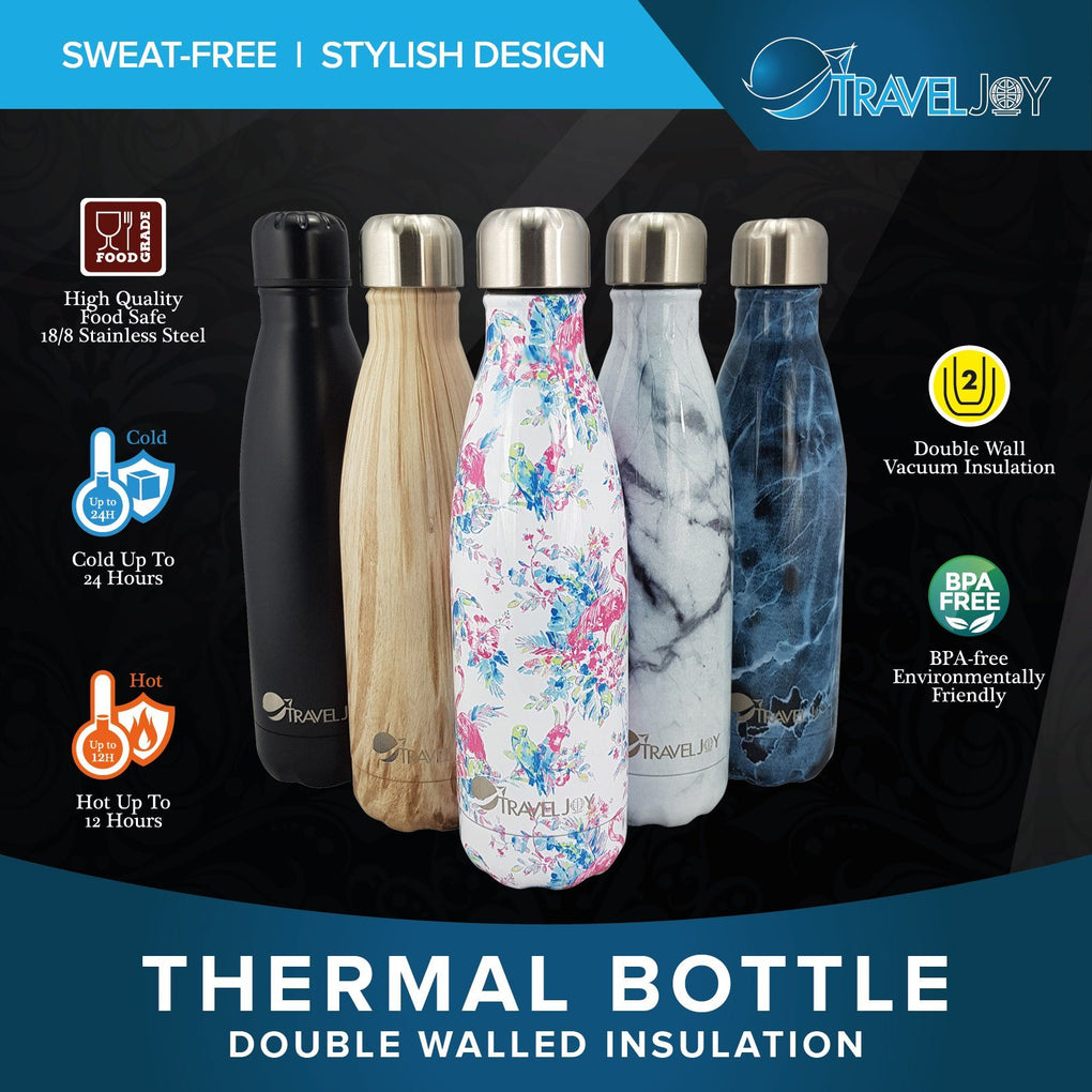 Double Walled Thermal Bottle - Flamingo Fantasy Thermal Flasks Travel Joy