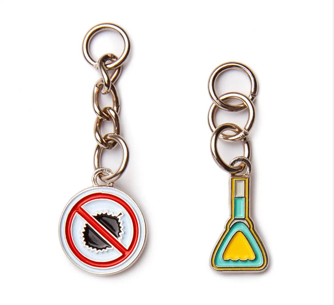 Downtown Line Charms Local Keychains Knackstop