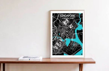 Downtown Map - Cyan - Local Prints - URBAN X MAPS - Naiise