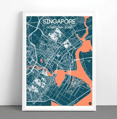 Downtown Map - Navy - Local Prints - URBAN X MAPS - Naiise