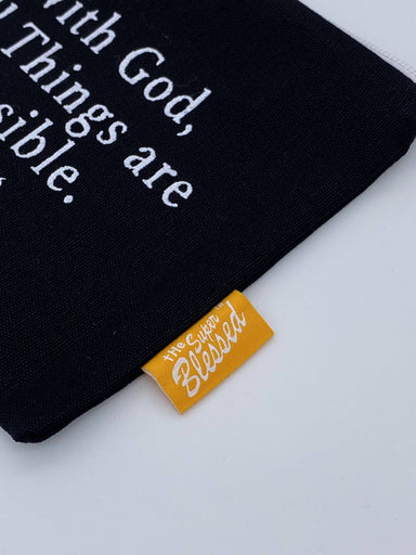Coin pouch 11x13cm With God All Things are Possible - Coin Pouches - The Super Blessed - Naiise