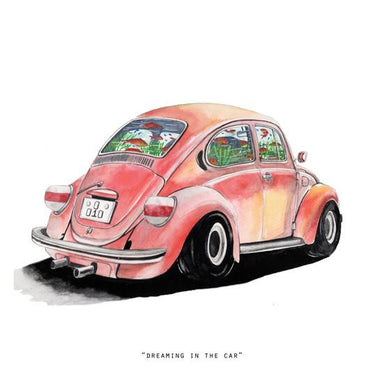 Dreaming In The Car Mini Art Print - Prints - N'so Gallery - Naiise