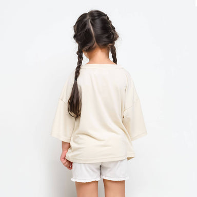 Drop Shoulder Organic Cotton Top - Girls Tops - twopluso - Naiise