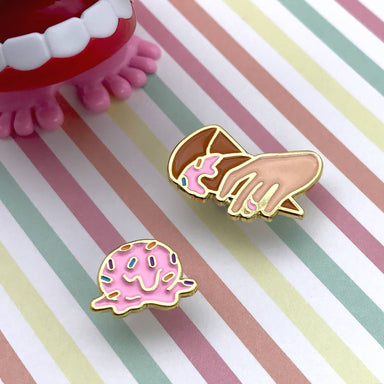 Dropped Ice Cream Enamel Pin - Pins - John Moniker - Naiise