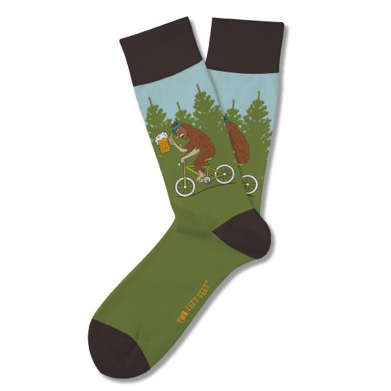 Drunken Sasquatch Everyday Socks (Big Feet) Socks Two Left Feet