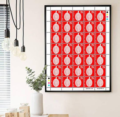 Durian Stamps Print - Prints - Big Red Chilli - Naiise