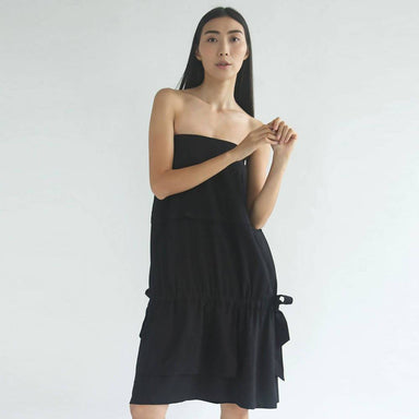 Eamon Drawstring Skirt / Tube Midi Dress Dresses Salient Label
