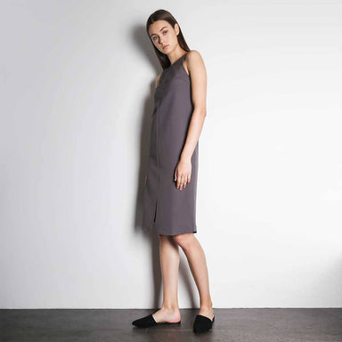 Eden Asymmetric Strap Straight Dress in Quixotic Plum - Dresses - Salient Label - Naiise