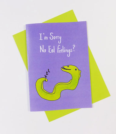 Eel - No Eel Feelings Card - Sorry Cards - Steak & Eggs Please - Naiise