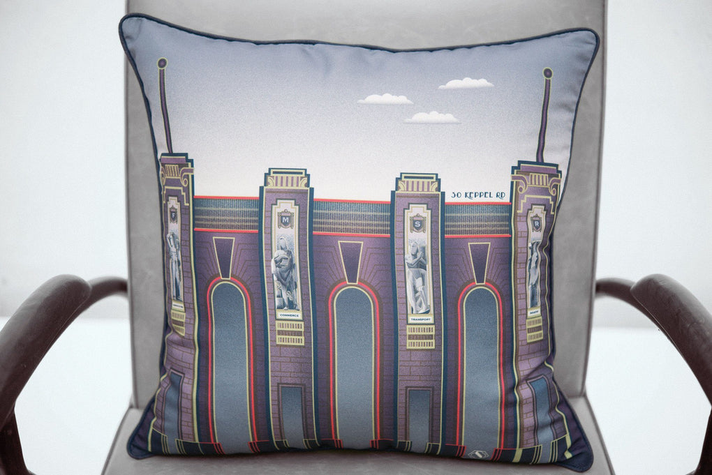 Embrace Me Cushion Cover - Tanjong Pagar Railway Station Local Cushion Covers SCENE SHANG