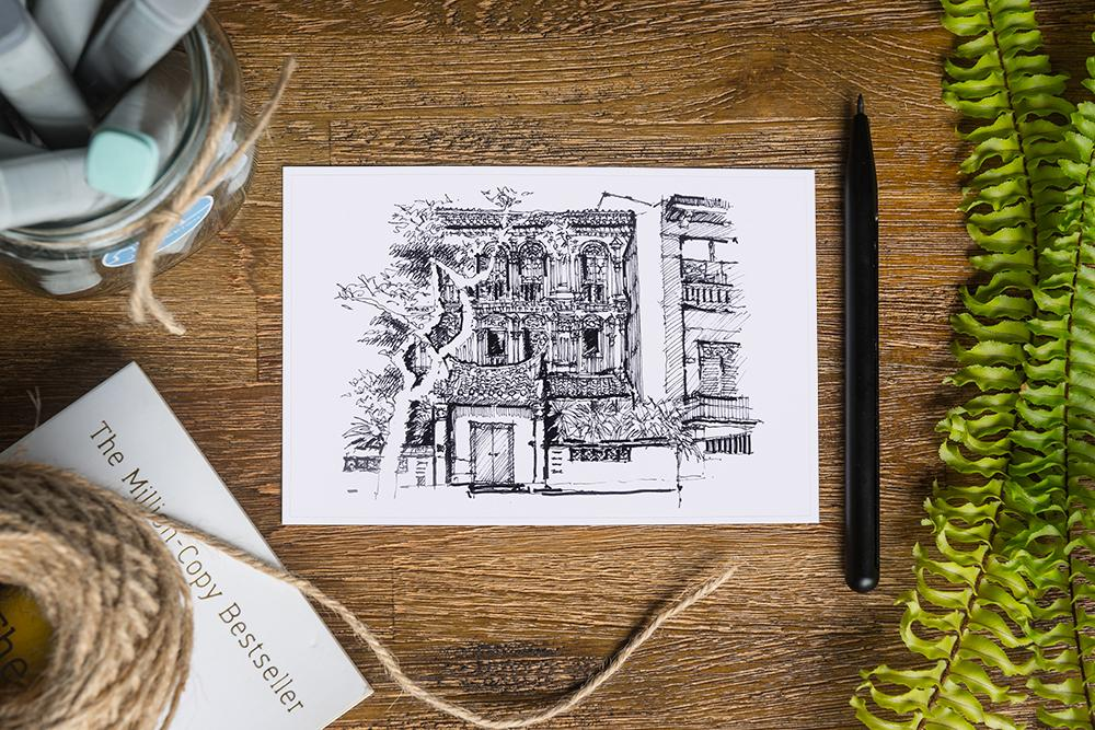 Emerald Hill Postcard - Local Postcards - Just Sketch - Naiise