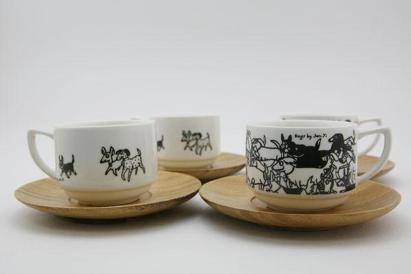 Espresso Cup Set - Dogs Cups The Animal Project