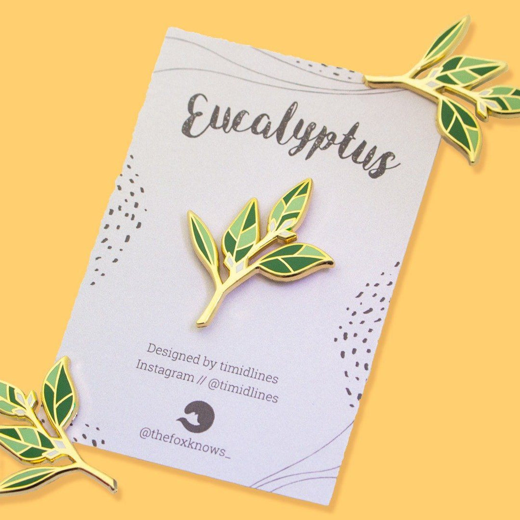Eucalyptus Seed Hard Enamel Pin Pins The Fox Knows