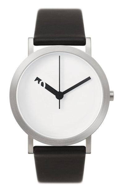 Extra Normal Grande Watch (with Black Leather Belt) - White Face (EN-GL01) - Watches - Normal - Naiise