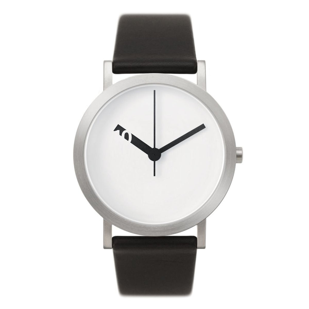 Extra Normal Grande Watch (with Black Leather Belt) - White Face (EN-GL01) Watches Normal