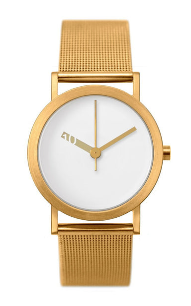 Extra Normal Watch (with Gold Mesh Belt) - Watches - Normal - Naiise