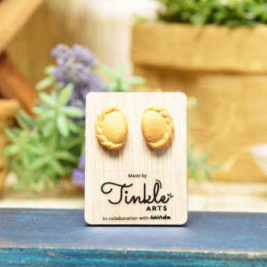 Curry Puff Earrings - Earring Studs - Tinkle Arts - Naiise