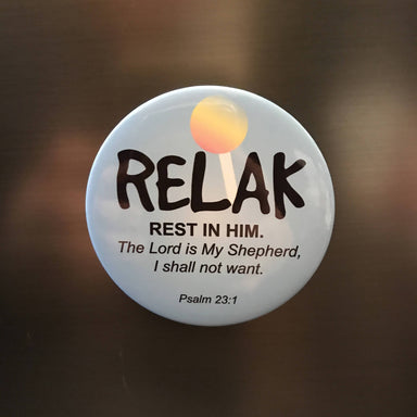 "Magnet - Relak (""I am a Singaporean Christian"" Series) - Local Magnets - The Super Blessed - Naiise"