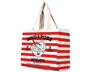 SG Merlion Soup Travel Tote Bag - Local Tote Bags - Chalo - Naiise