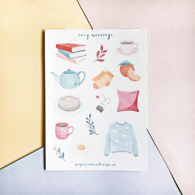 Cosy Mornings | Sticker Sheets - Stickers - Papercranes Design - Naiise